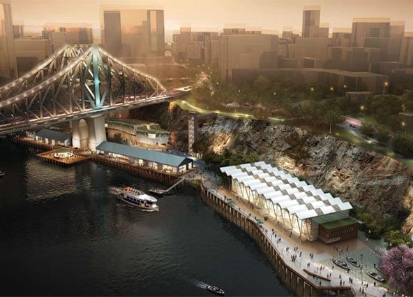 Howard smith wharves once the building project is finished.